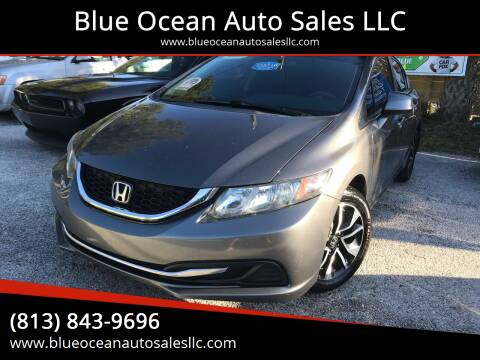 2013 Honda Civic for sale at Blue Ocean Auto Sales LLC in Tampa FL