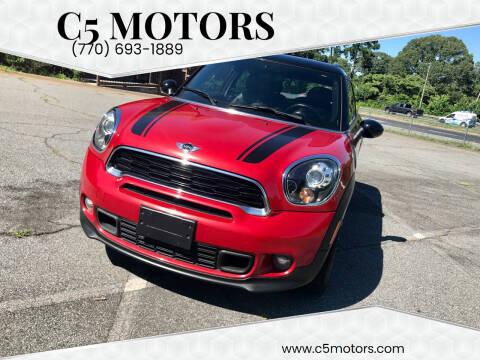 2013 MINI Paceman for sale at C5 Motors in Marietta GA