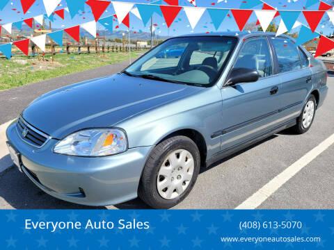 2000 Honda Civic for sale at Everyone Auto Sales in Santa Clara CA