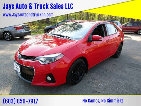 2016 Toyota Corolla for sale at Jays Auto & Truck Sales LLC in Loudon NH