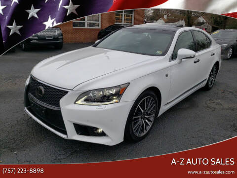 2014 Lexus LS 460 for sale at A-Z Auto Sales in Newport News VA