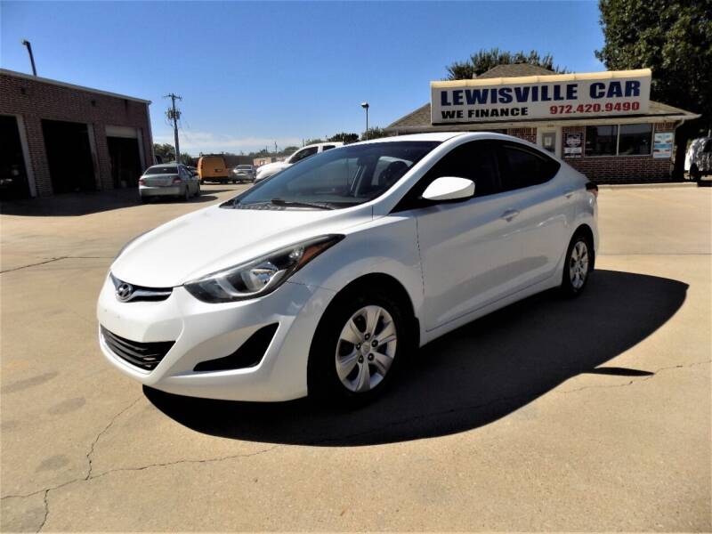 2016 Hyundai Elantra for sale at Lewisville Car in Lewisville TX