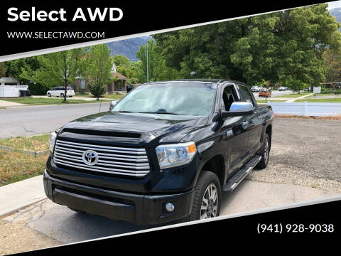2014 Toyota Tundra for sale at Select AWD in Provo UT