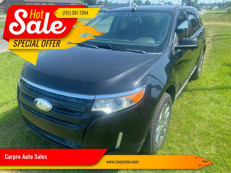2013 Ford Edge for sale at Carpro Auto Sales in Chesapeake VA