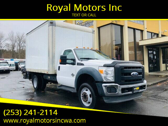 2012 Ford F-550 Super Duty for sale at Royal Motors Inc in Kent WA