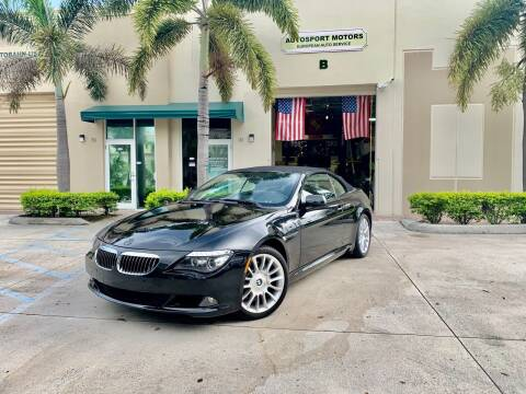2008 BMW 6 Series for sale at AUTOSPORT MOTORS in Lake Park FL