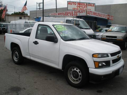 2012 Chevrolet Colorado for sale at AUTO WHOLESALE OUTLET in North Hollywood CA