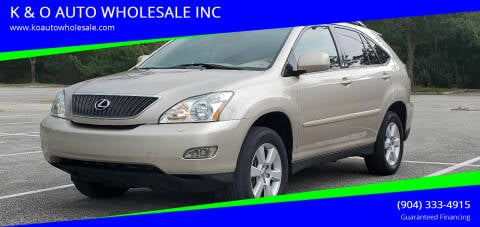 2007 Lexus RX 350 for sale at K & O AUTO WHOLESALE INC in Jacksonville FL