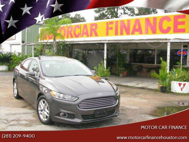 2015 Ford Fusion for sale at MOTOR CAR FINANCE in Houston TX