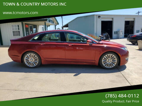 2014 Lincoln MKZ for sale at TOWN & COUNTRY MOTORS INC in Meriden KS