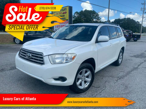 2010 Toyota Highlander for sale at Luxury Cars of Atlanta in Snellville GA