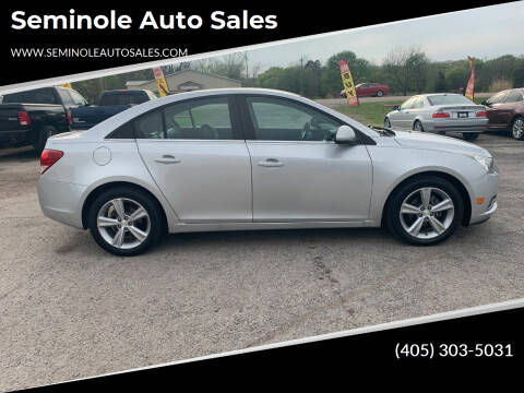 2013 Chevrolet Cruze for sale at Seminole Auto Sales in Seminole OK