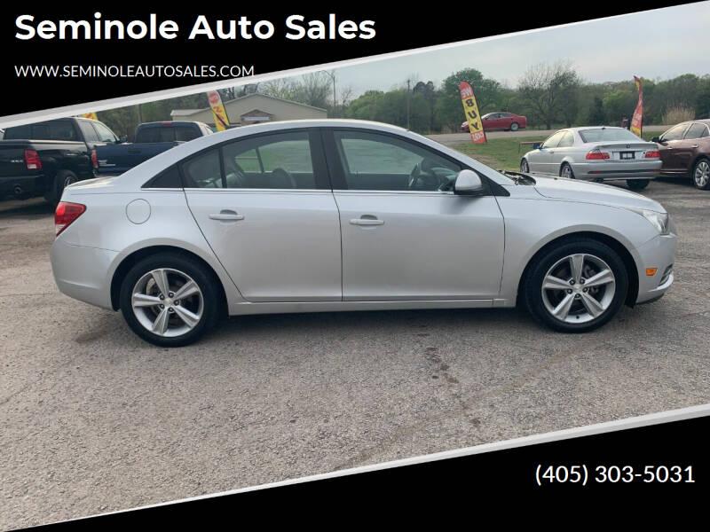 2013 Chevrolet Cruze for sale at Seminole Auto Sales in Seminole OK