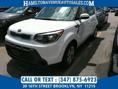 2015 Kia Soul for sale at Hamilton Avenue Auto Sales in Brooklyn NY