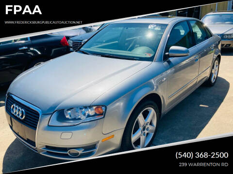 2005 Audi A4 for sale at FPAA in Fredericksburg VA