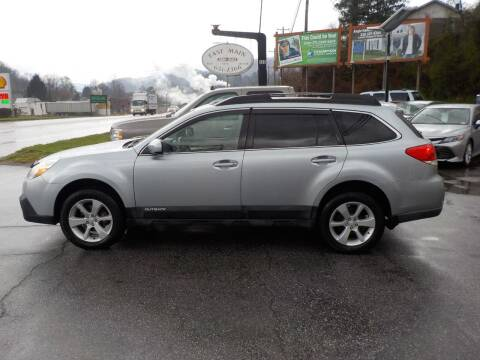 2013 Subaru Outback for sale at EAST MAIN AUTO SALES in Sylva NC