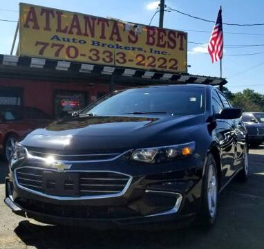 2017 Chevrolet Malibu for sale at Atlanta's Best Auto Brokers in Marietta GA