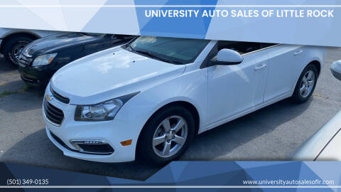 2015 Chevrolet Cruze for sale at University Auto Sales of Little Rock in Little Rock AR
