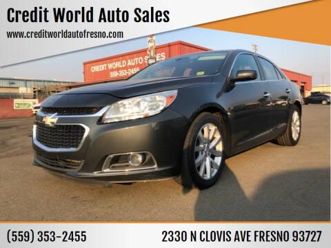 2014 Chevrolet Malibu for sale at Credit World Auto Sales in Fresno CA