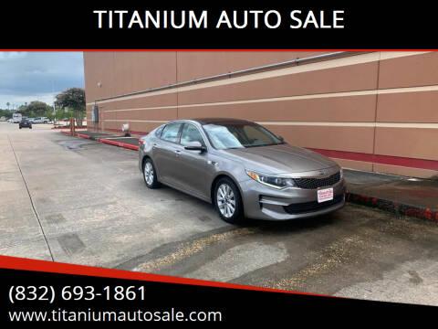 2016 Kia Optima for sale at TITANIUM AUTO SALE in Houston TX