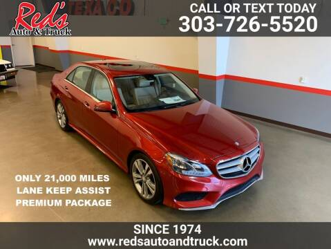 2014 Mercedes-Benz E-Class for sale at Red's Auto and Truck in Longmont CO