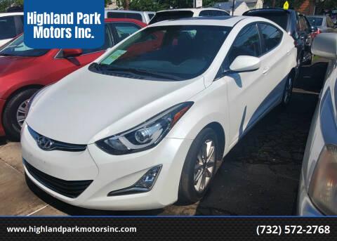 2015 Hyundai Elantra for sale at Highland Park Motors Inc. in Highland Park NJ