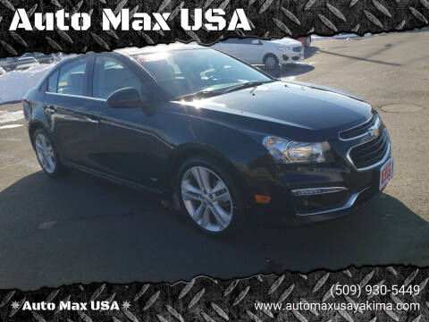 2015 Chevrolet Cruze for sale at Auto Max USA in Yakima WA