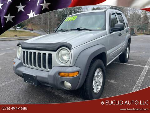 2002 Jeep Liberty for sale at 6 Euclid Auto LLC in Bristol VA