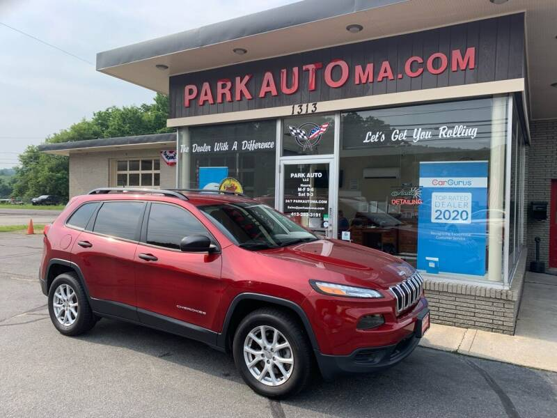 2016 Jeep Cherokee for sale at Park Auto LLC in Palmer MA