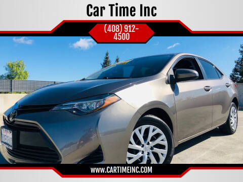 2017 Toyota Corolla for sale at Car Time Inc in San Jose CA