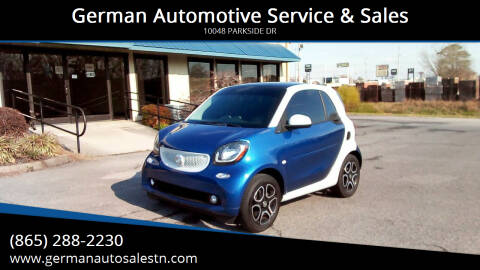 2016 Smart fortwo for sale at German Automotive Service & Sales in Knoxville TN