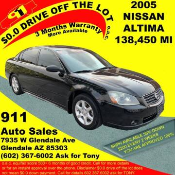 2005 Nissan Altima for sale at 911 AUTO SALES LLC in Glendale AZ