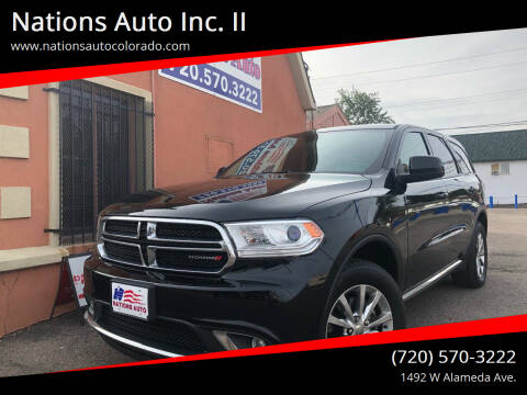 2018 Dodge Durango for sale at Nations Auto Inc. II in Denver CO