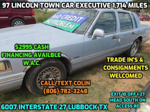 1997 Lincoln Town Car for sale at West Texas Consignment in Lubbock TX