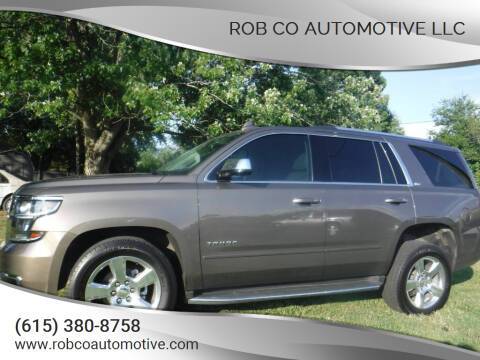 2016 Chevrolet Tahoe for sale at Rob Co Automotive LLC in Springfield TN
