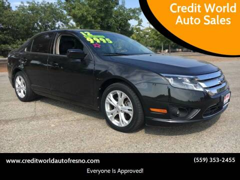 2012 Ford Fusion for sale at Credit World Auto Sales in Fresno CA