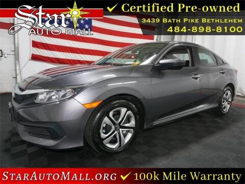 2017 Honda Civic for sale at STAR AUTO MALL 512 in Bethlehem PA