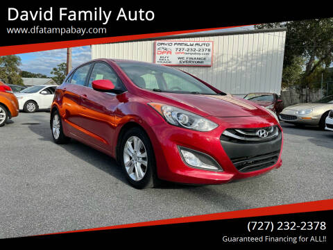 2013 Hyundai Elantra GT for sale at David Family Auto in New Port Richey FL