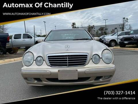2001 Mercedes-Benz E-Class for sale at Automax of Chantilly in Chantilly VA