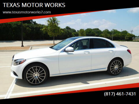 2015 Mercedes-Benz C-Class for sale at TEXAS MOTOR WORKS in Arlington TX