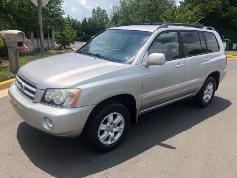 2002 Toyota Highlander for sale at Dreams Auto Group LLC in Sterling VA