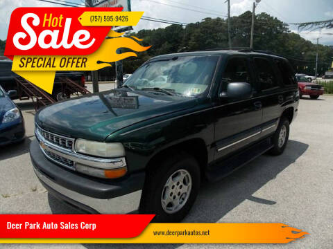 2004 Chevrolet Tahoe for sale at Deer Park Auto Sales Corp in Newport News VA