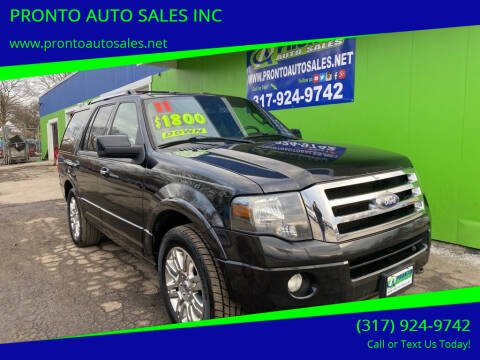 2011 Ford Expedition for sale at PRONTO AUTO SALES INC in Indianapolis IN