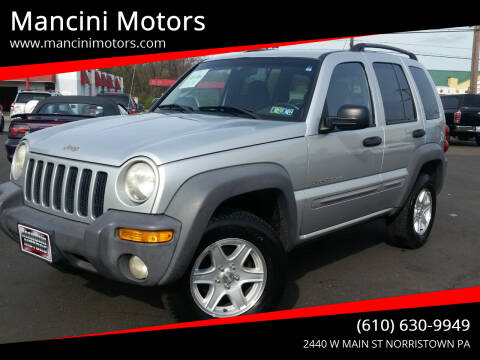 2002 Jeep Liberty for sale at Mancini Motors in Norristown PA