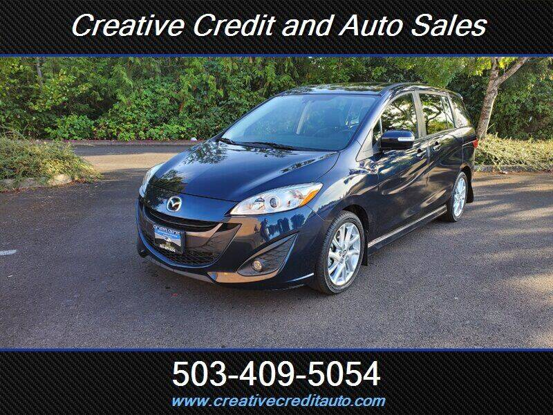 2014 Mazda MAZDA5 for sale at Creative Credit & Auto Sales in Salem OR