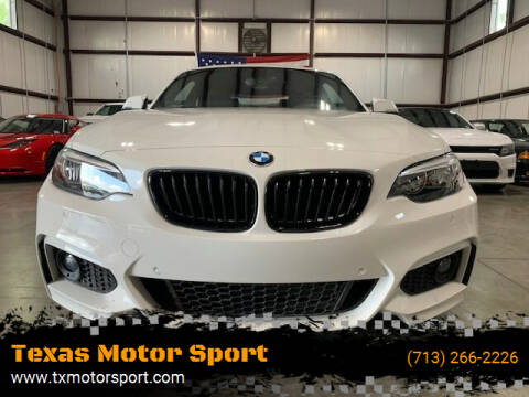 2017 BMW 2 Series for sale at Texas Motor Sport in Houston TX