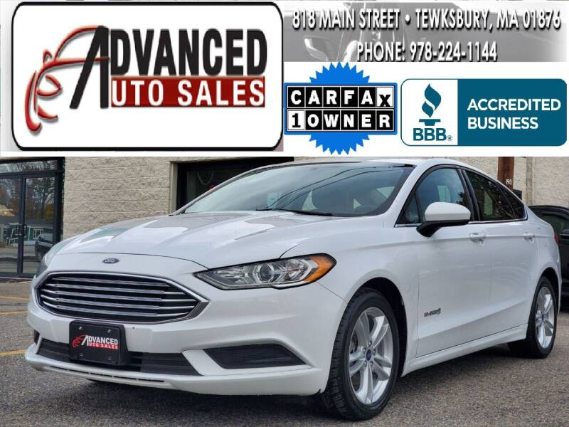 2018 Ford Fusion Hybrid for sale at Advanced Auto Sales in Tewksbury MA