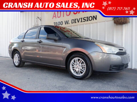 2011 Ford Focus for sale at CRANSH AUTO SALES, INC in Arlington TX