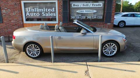 2010 Audi A5 for sale at Unlimited Auto Sales in Upper Marlboro MD