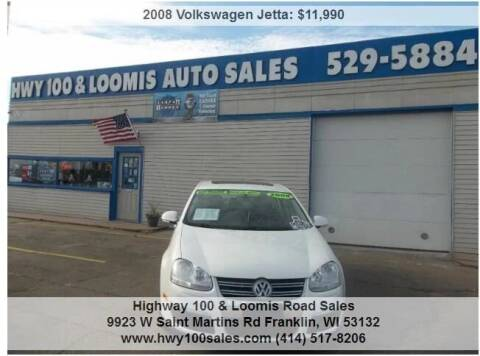 2008 Volkswagen Jetta for sale at Highway 100 & Loomis Road Sales in Franklin WI